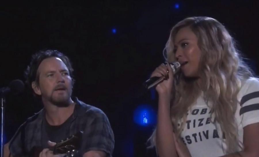 Eddie Vedder śpiewa z Beyoncé