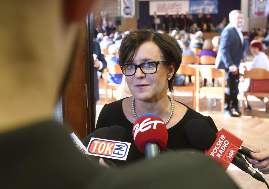 Minister edukacji narodowej Joanna Kluzik-Rostkowska, podczas uroczystych obchodów 110. rocznicy rozpoczęcia działalności Związku Nauczycielstwa Polskiego