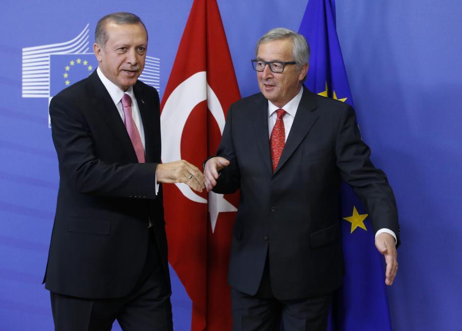 Recep Tayyip Erdogan i Jean-Claude Juncker