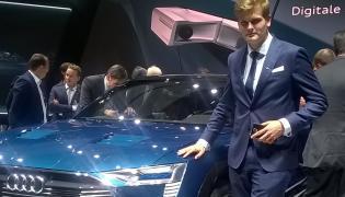 Kamil Łabanowicz i Audi e-tron quattro