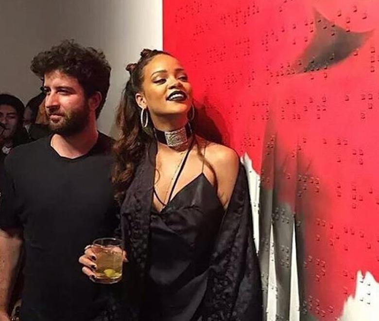 Roy Nachum i Rihanna w MAMA w Los Angeles