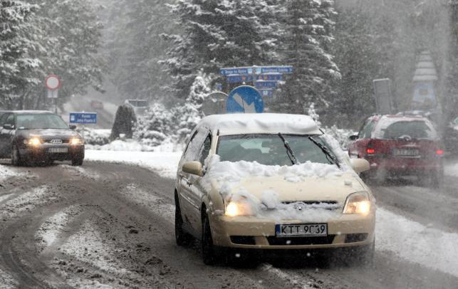 Zakopane - pierwsze opady śniegu
