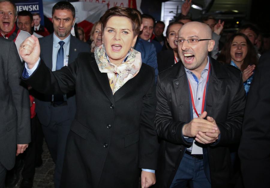 Beata Szydło i rzecznik PiS Krzysztof Łapiński