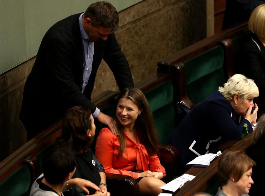 Posłanka Ewa Kołodziej w Sejmie