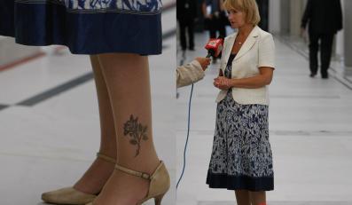 Szczypińska przywiozła z urlopu tatuaż