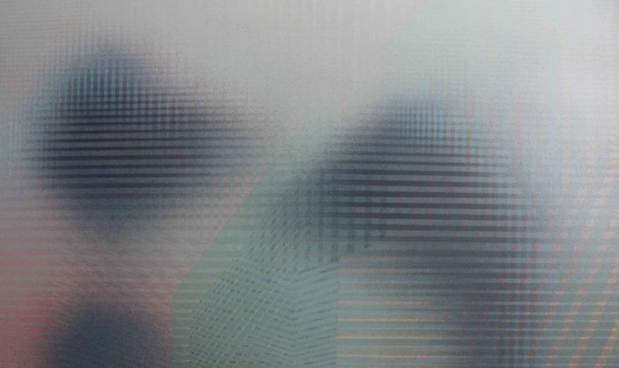 Interferencje VII, akryl na płótnie, 150x90 cm