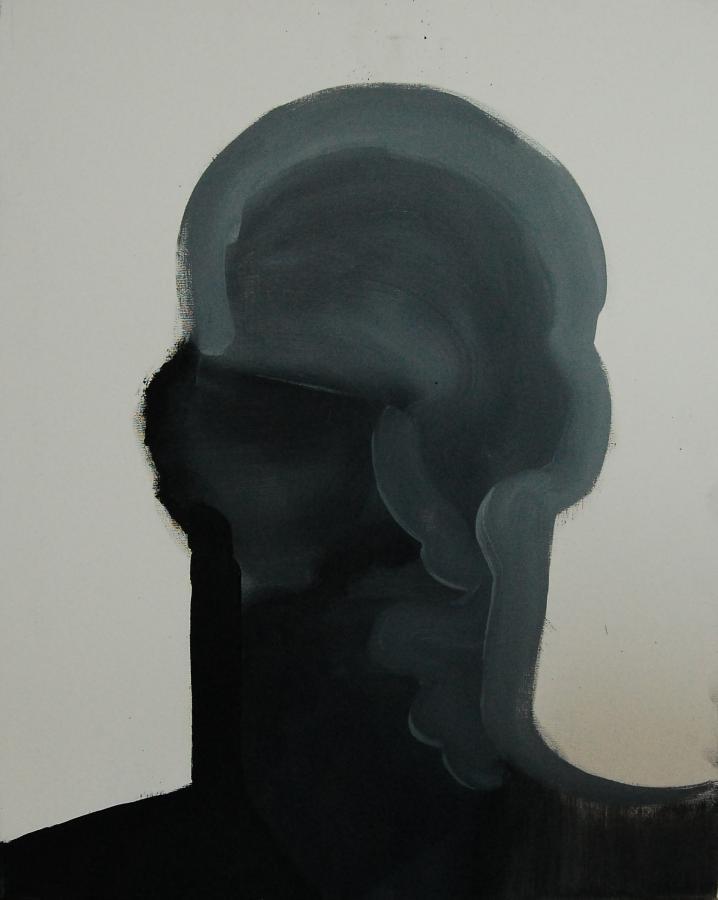 """""""Szkice do portretu 26"""", Cezary Bednarczyk, olej na płótnie, 50x40 cm"""