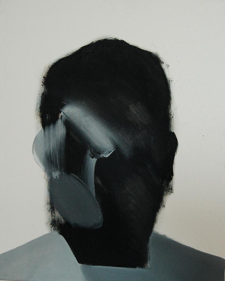 """""""Szkice do portretu 28"""", Cezary Bednarczyk, olej na płótnie, 50x40 cm"""