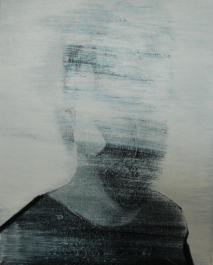 """""""Szkice do portretu 38"""", Cezary Bednarczyk, olej na płótnie, 50x40 cm"""