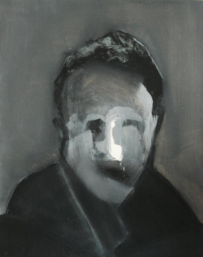 """""""Szkice do portretu 45"""", Cezary Bednarczyk, olej na płótnie, 50x40 cm"""