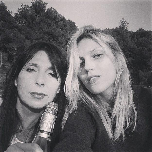 Anja Rubik z siostrą