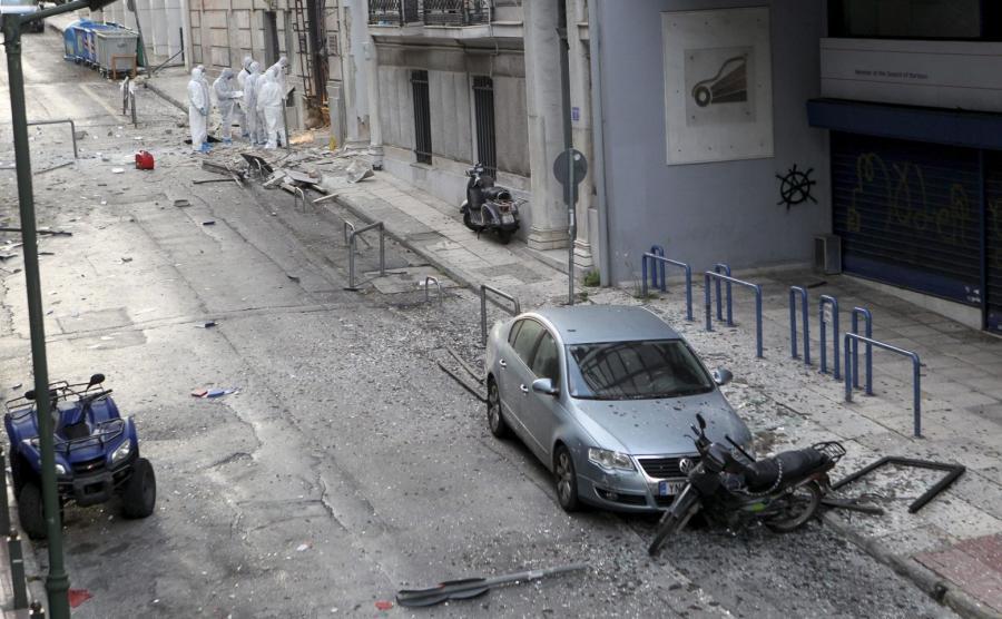 Wybuch bomby w centrum Aten