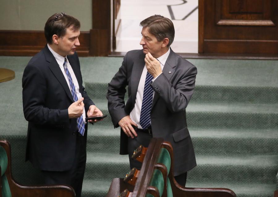Zbigniew Ziobro i Marek Kuchciński