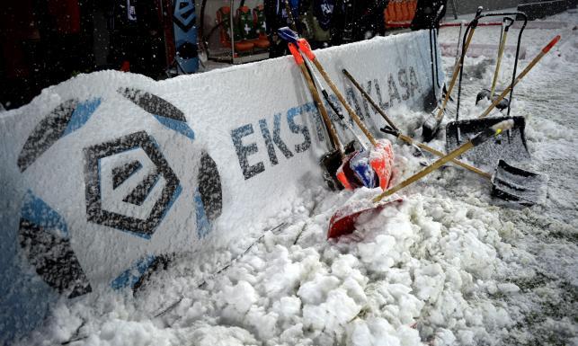 Ekstraklasa: Atak zimy w Niecieczy. Mecz Termaliki z Jagiellonią odwołany. ZDJĘCIA