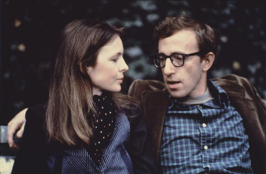 "Diane Keaton i Woody Allen w filmie ""Annie Hall"""