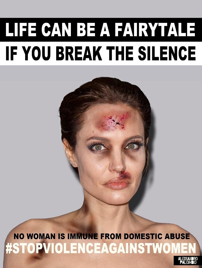 Przemoc może dotknąć każdego, nawet gwiazdy. Angelina Jolie w kampanii #stopvilenceagainstwomen