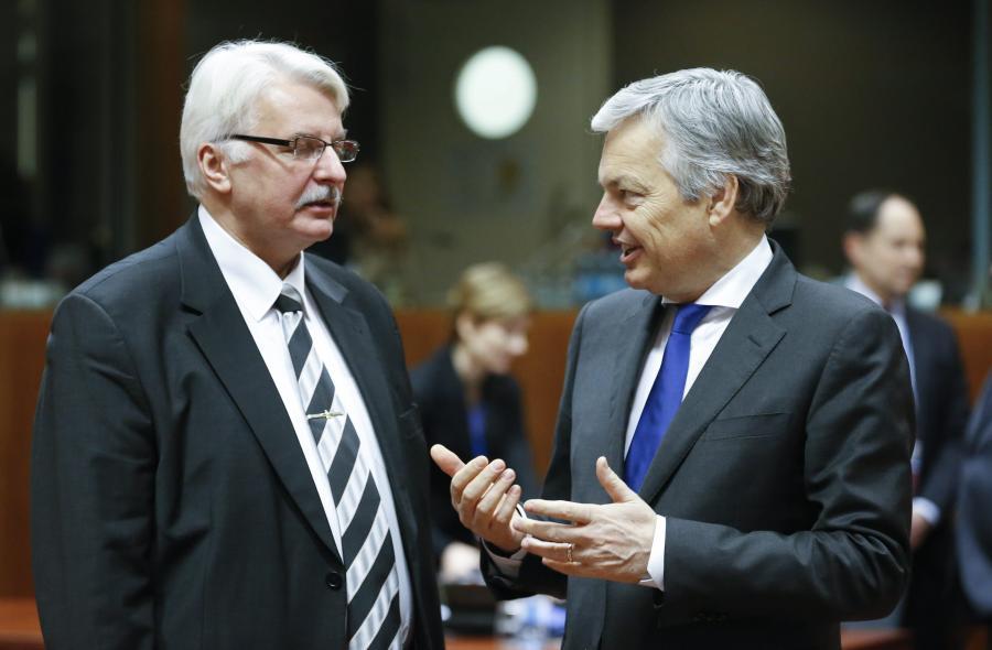 Witold Waszczykowski i szef MSZ Belgii Didier Reynders