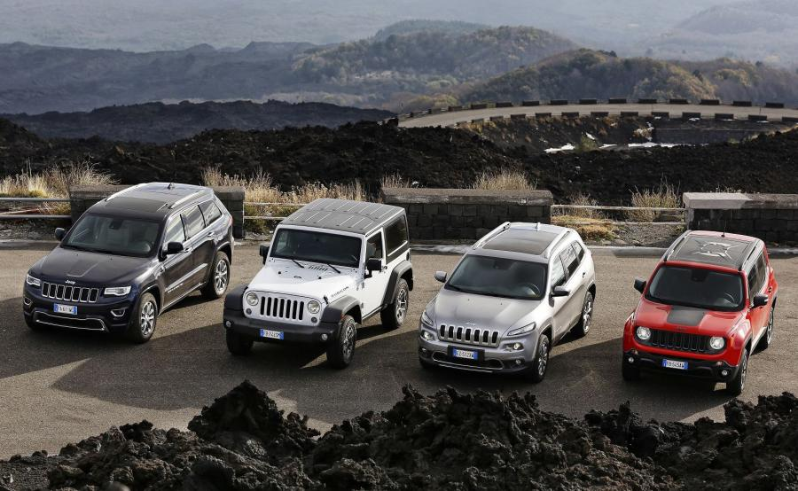 Jeep - rodzina w komplecie