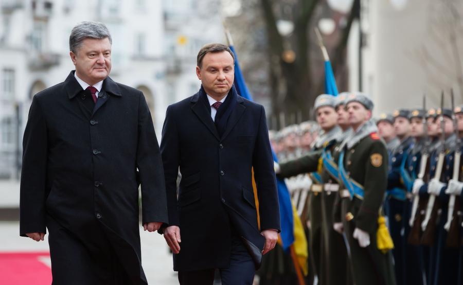 Prezydent Ukrainy Petro Poroszenko i prezydent Polski Andrzej Duda w Kijowie