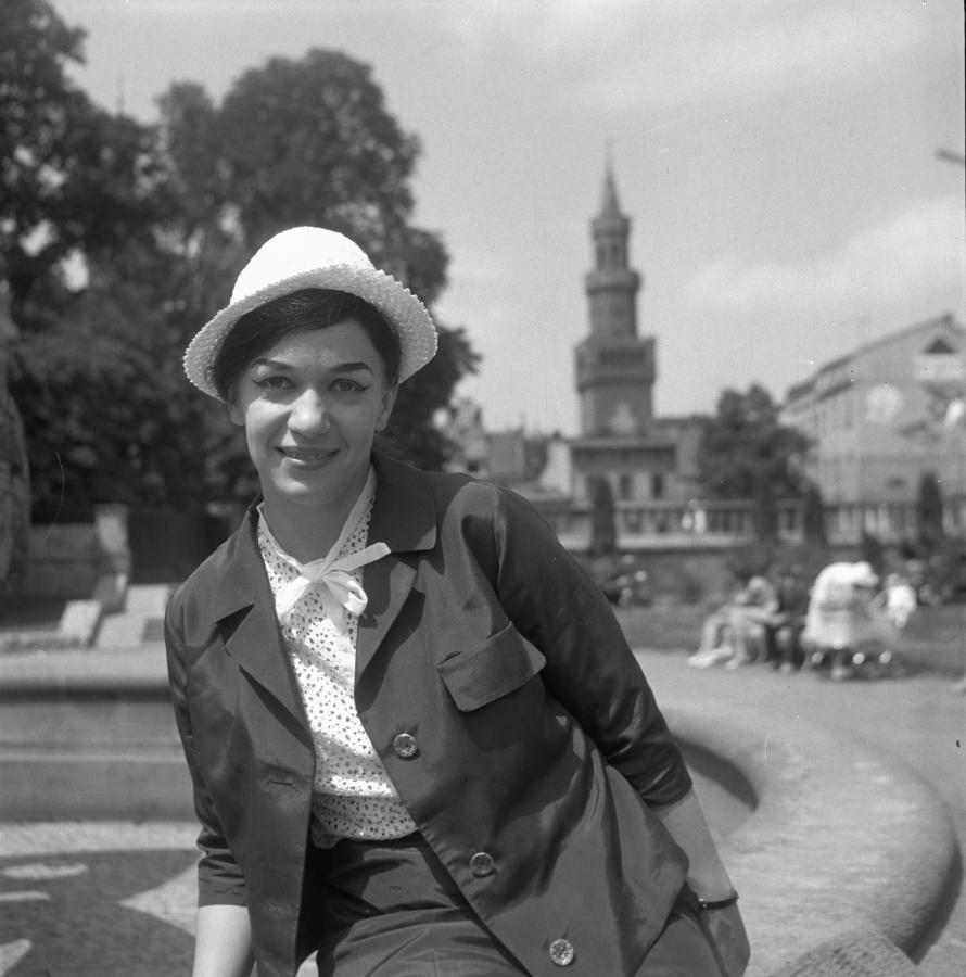 Ewa Demarczyk w Opolu w 1963 roku