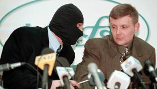 Aleksander Litwinienko na konferencji prasowej