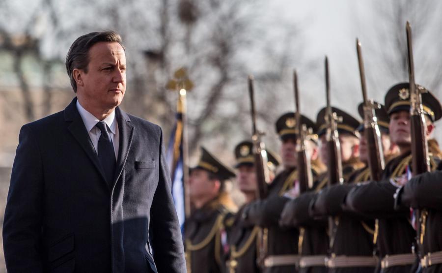 David Cameron czasie wizyty w Pradze