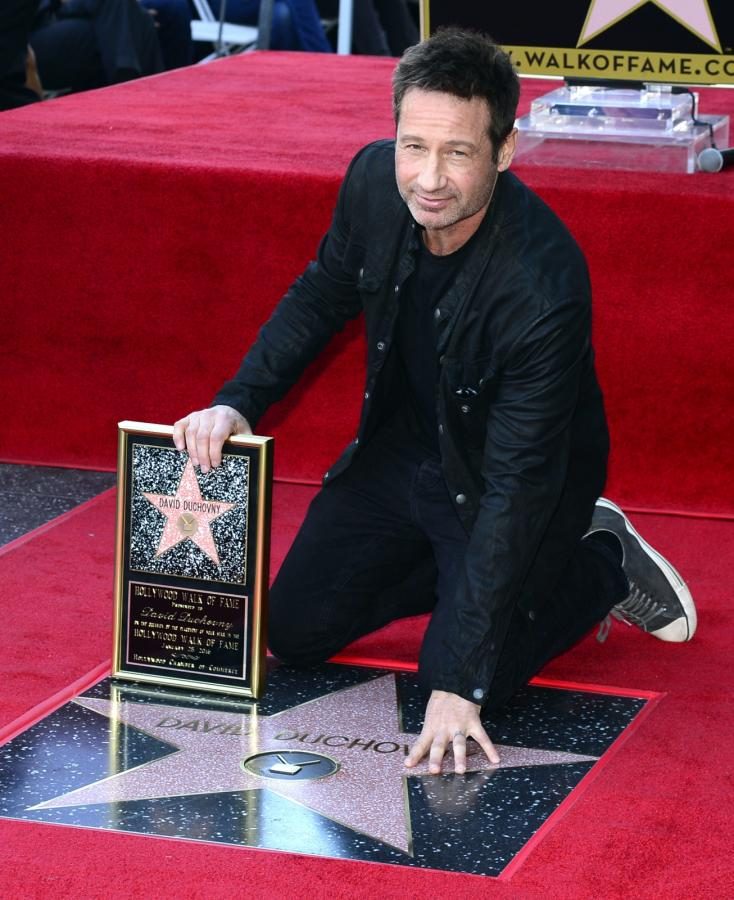 David Duchovny odsłonił swoją gwiazdę na słynnej hollywoodzkiej Alei Sław