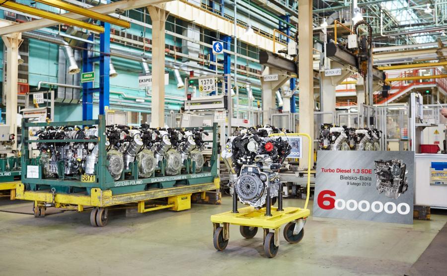 6 mln silników 1.3 MultiJet z fabryki  FCA Powertrain Poland w Bielsku-Białej