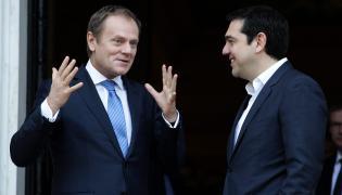 Donald Tusk i Aleksis Tsipras spotkali się w Atenach