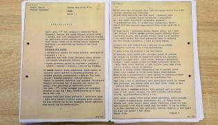 Jeden z donosów z teczki personalnej tajnego współpracownika SB o pseudonimie Bolek ujawnionej przez IPN