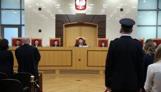 Prezes Trybunału Konstytucyjnego Andrzej Rzepliński podczas ogłaszania wyroku w sprawie nowelizacji ustawy o Trybunale autorstwa PiS