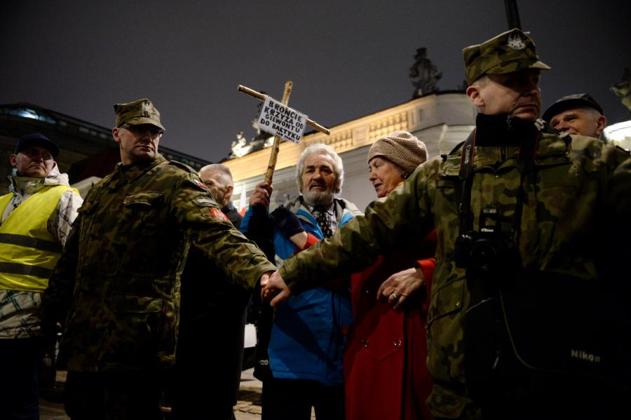 Uroczystości przed Pałacem Prezydenckim w Warszawie
