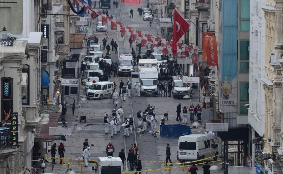 Zamach w centrum Stambułu