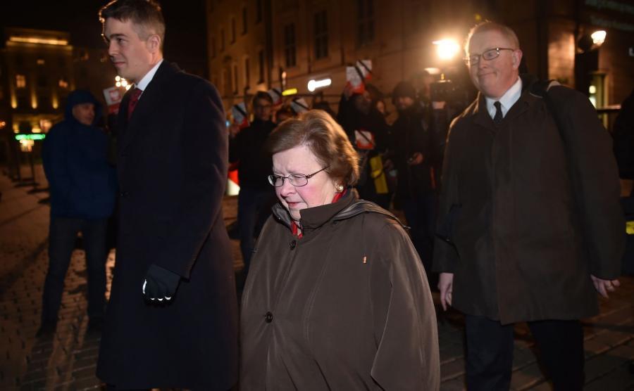 Członek amerykańskiej Partii Demokratycznej, senator ze stanu Maryland Barbara Mikulski po spotkaniu z prezydentem Andrzejem Dudą