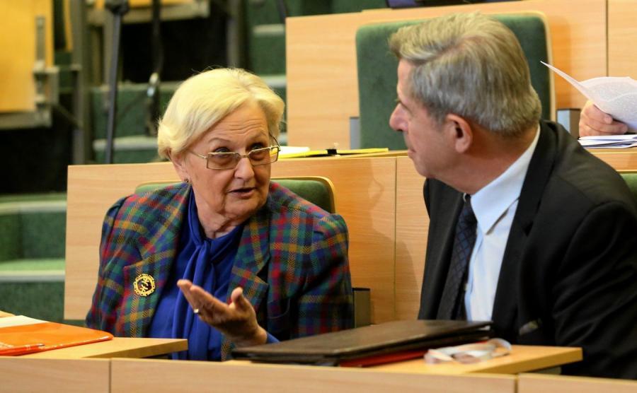 Prof. Ewa Łętowska i prof. Andrzej Zoll