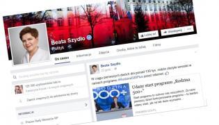 Profil premier Beaty Szydło na Facebooku