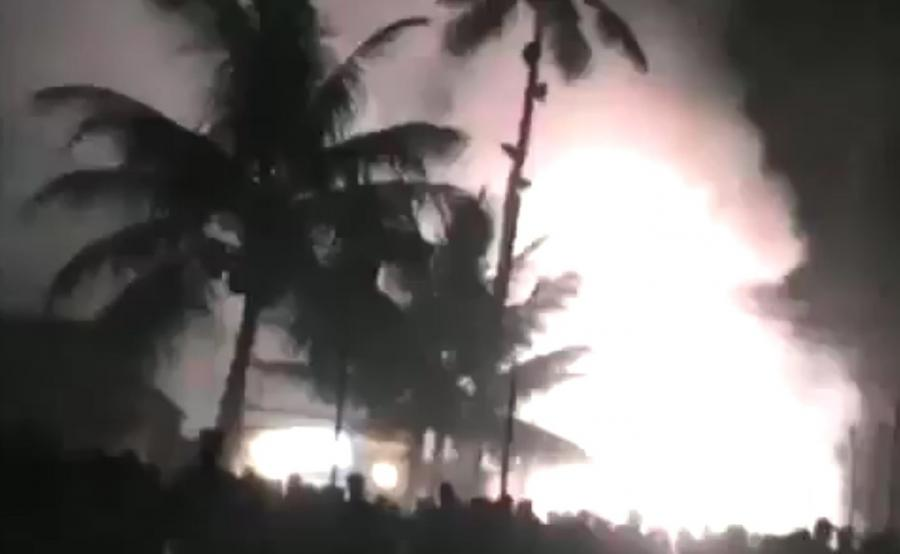 Pożar w świątyni w Indiach
