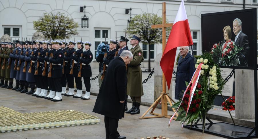 Jarosław Kaczyński na Krakowskim Przedmieściu