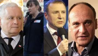 Jaroław Kaczyński, Ewa Stankiwicz, Jarosław Kurski i Paweł Kukiz