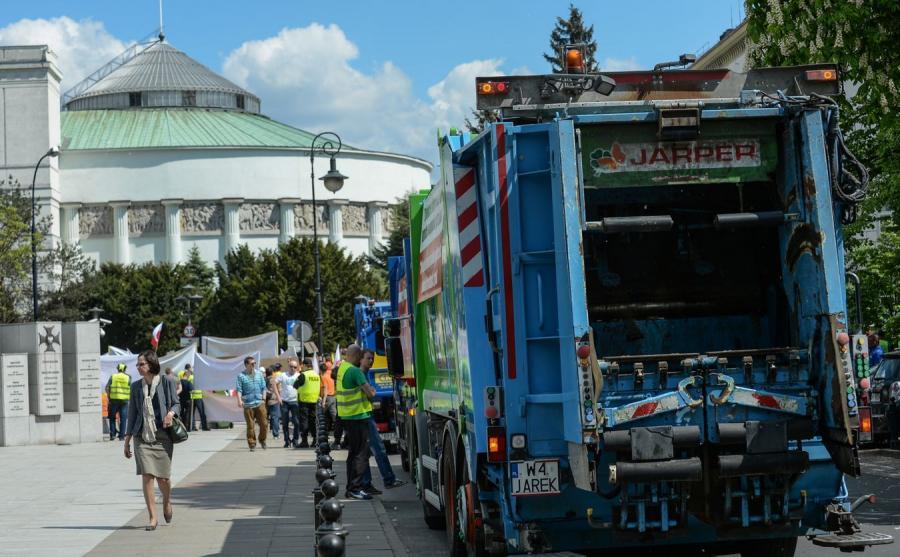 Protest branży odpadowej w Warszawie