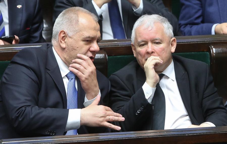 Jacek Sasin i Jarosław Kaczyński