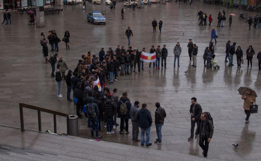 Demonstracja imigrantów w Kolonii