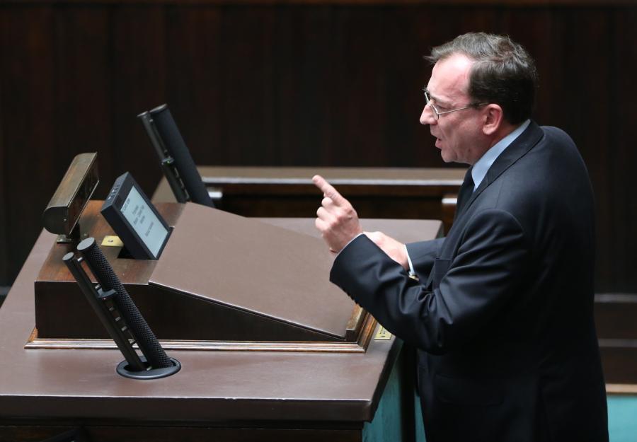 Koordynator służb specjalnych Mariusz Kamiński w Sejmie