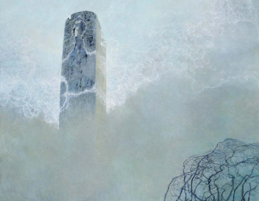 L9, 2003, olej, 73 x 92 cm