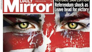 "Okładka ""Daily Mirror"""