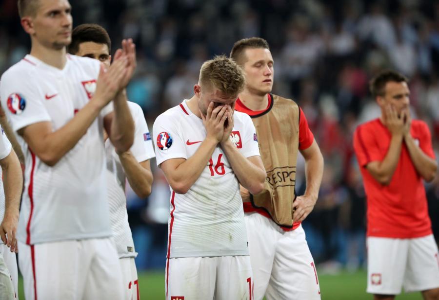 Polscy piłkarze po meczu z Portugalią