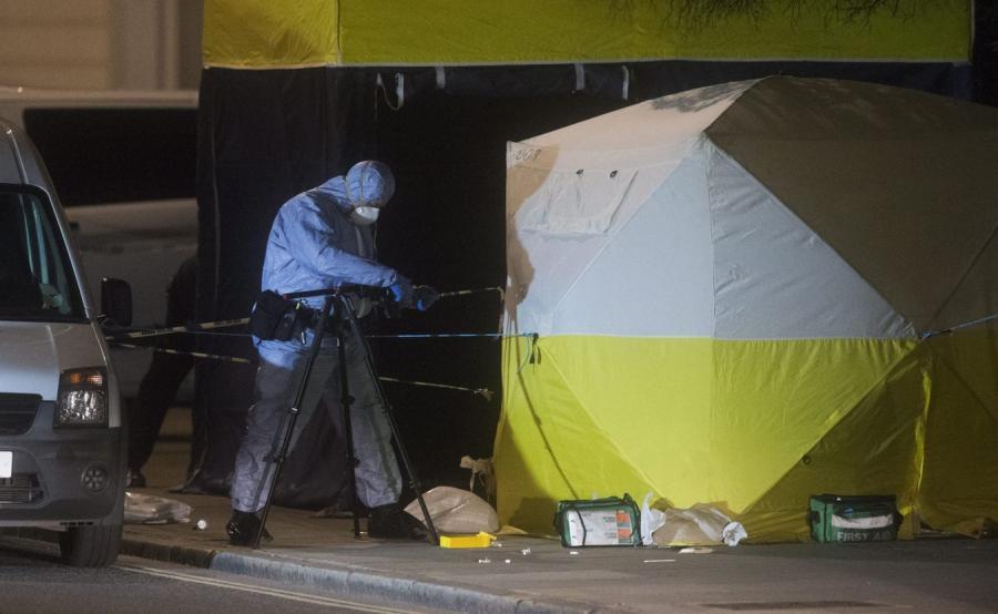 Atak nożownika w Londynie: Miejsce, w którym zginęła kobieta