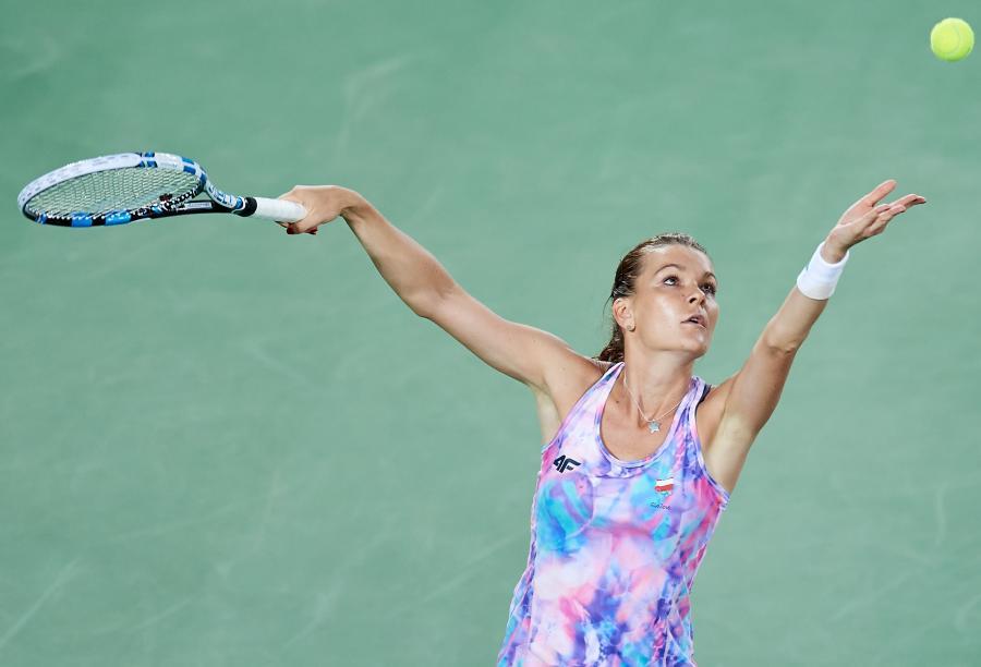 Agnieszka Radwańska podczas treningu w Rio de Janeiro