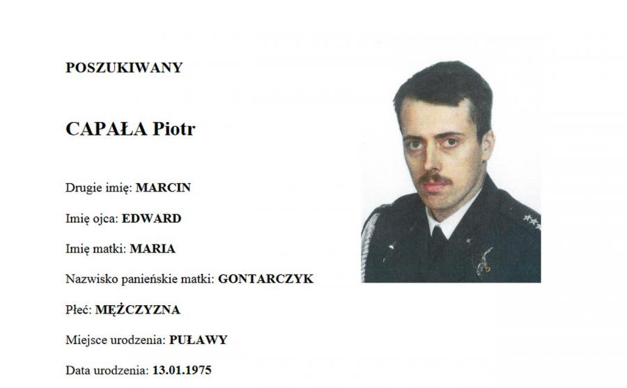 Poszukiwany Piotr Capała. LIST GOŃCZY