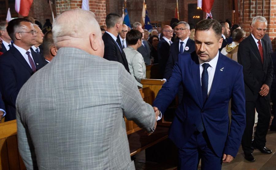 Były prezydent Lech Wałęsa i przewodniczący NSZZ \